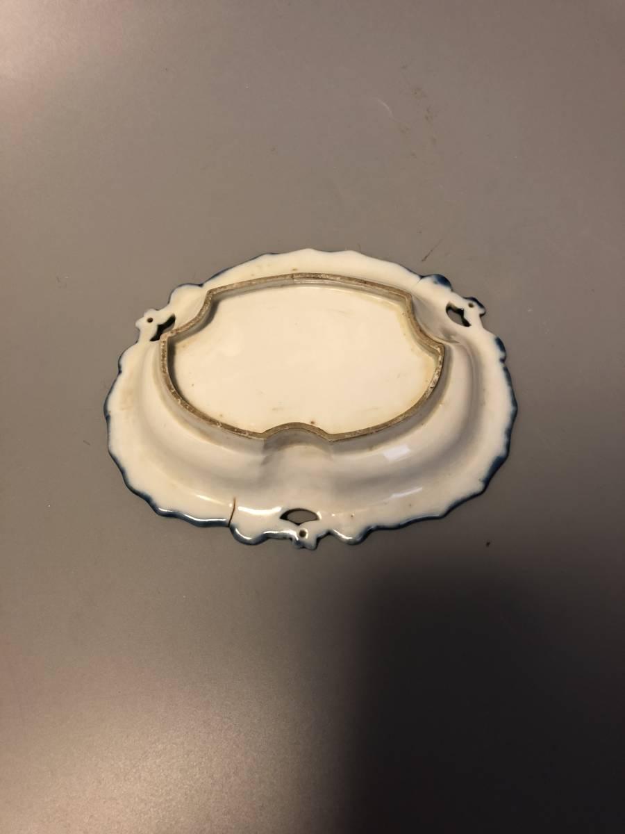古鍋島松ヶ谷手瑠璃変形皿_画像2