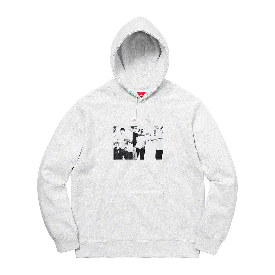 746 Supreme/Classic Ad Hooded Sweatshirt Ash Gray Lサイズ/シュプリーム クラシックアド パーカー アッシュグレー Lサイズ 2019SS_画像2