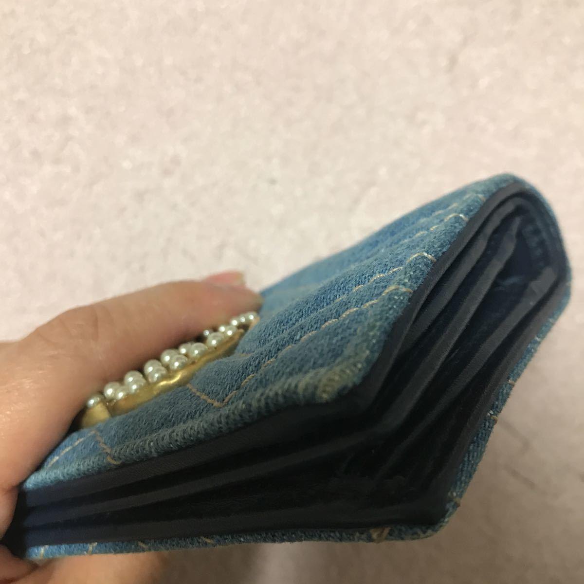 グッチ 日本限定 デニム 二つ折り財布_画像5