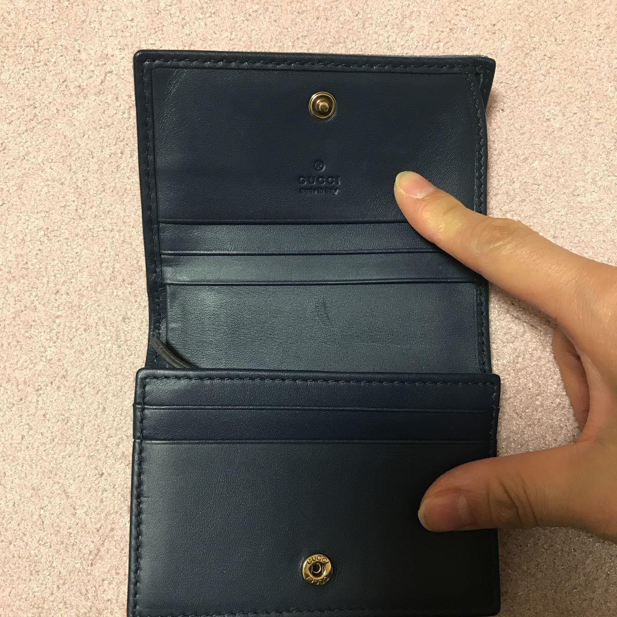 グッチ 日本限定 デニム 二つ折り財布_画像3