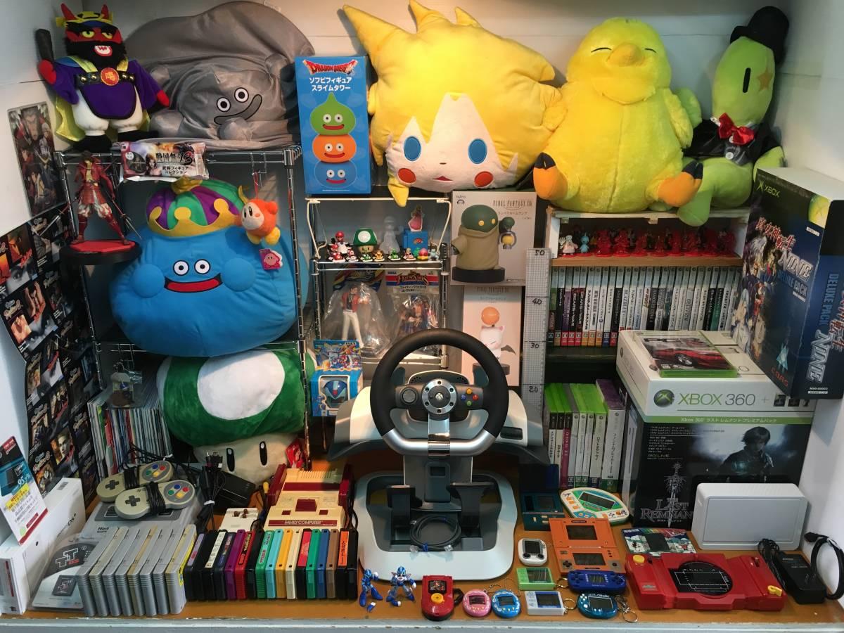 ゲーム 本体 ソフト ハンコン ポータブルゲーム機 フィギュア ぬいぐるみ ファミコン スーファミ XBOX360 マリオ ドラクエ FF ロックマン