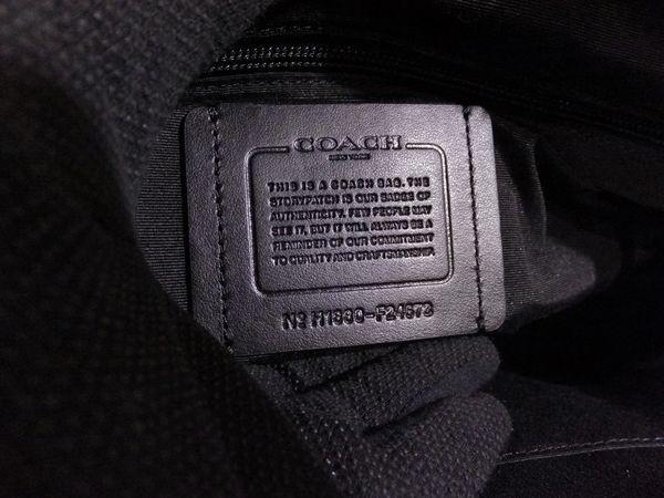 ◆未使用◆本物◆COACH コーチ バッグ メンズ レザー 2WAY 斜め掛け可 バイク・バッグ 黒 取説 タグ付き_画像6