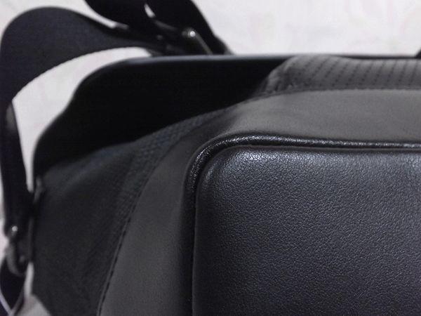 ◆未使用◆本物◆COACH コーチ バッグ メンズ レザー 2WAY 斜め掛け可 バイク・バッグ 黒 取説 タグ付き_画像9