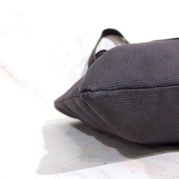 ◆本物◆BVLGARI ブルガリ バッグ メンズ トートバッグ 肩掛け可 最大42.5cm キャンバス レザー ブラウン_画像9