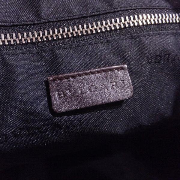 ◆本物◆BVLGARI ブルガリ バッグ メンズ トートバッグ 肩掛け可 最大42.5cm キャンバス レザー ブラウン_画像5