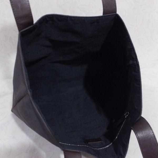 ◆本物◆BVLGARI ブルガリ バッグ メンズ トートバッグ 肩掛け可 最大42.5cm キャンバス レザー ブラウン_画像4