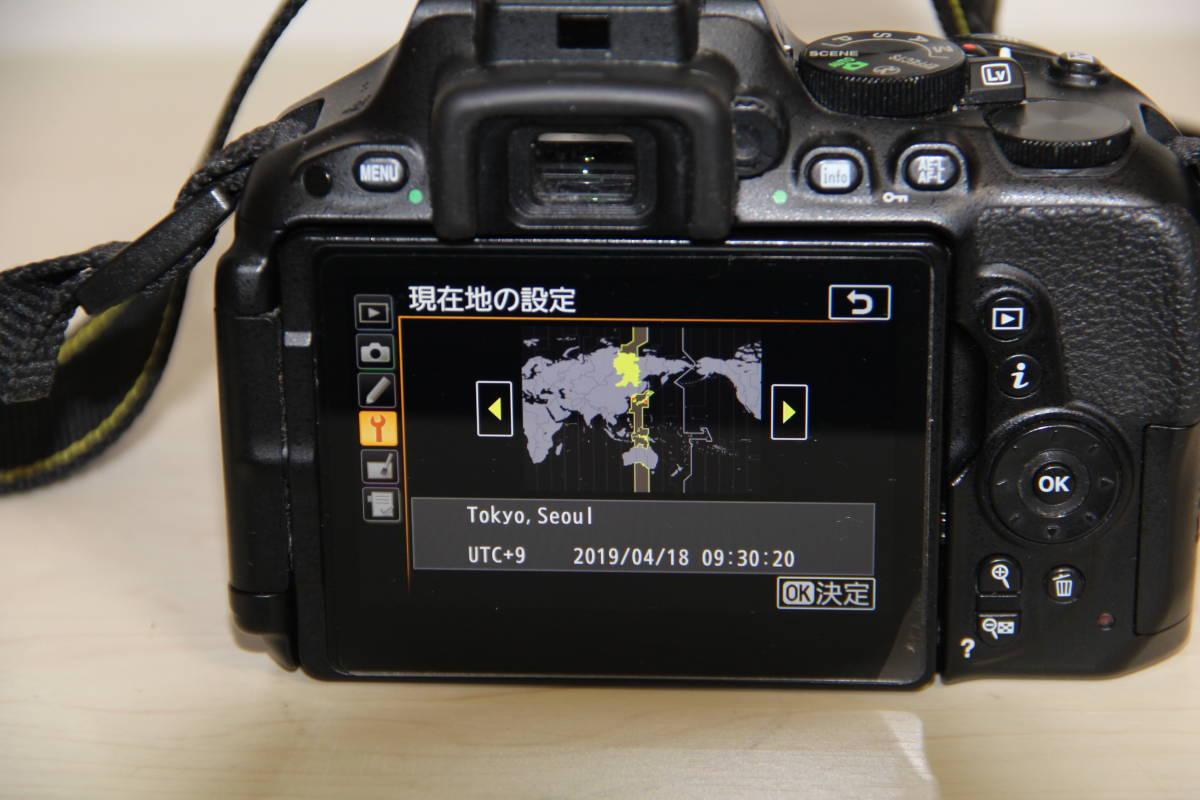 ニコン(NIKON) デジタル一眼レフカメラD5500 2416万画素,ダブル・ズームキット、ブラックボデイ、3.2型液晶タッチパネル、中古品_画像8