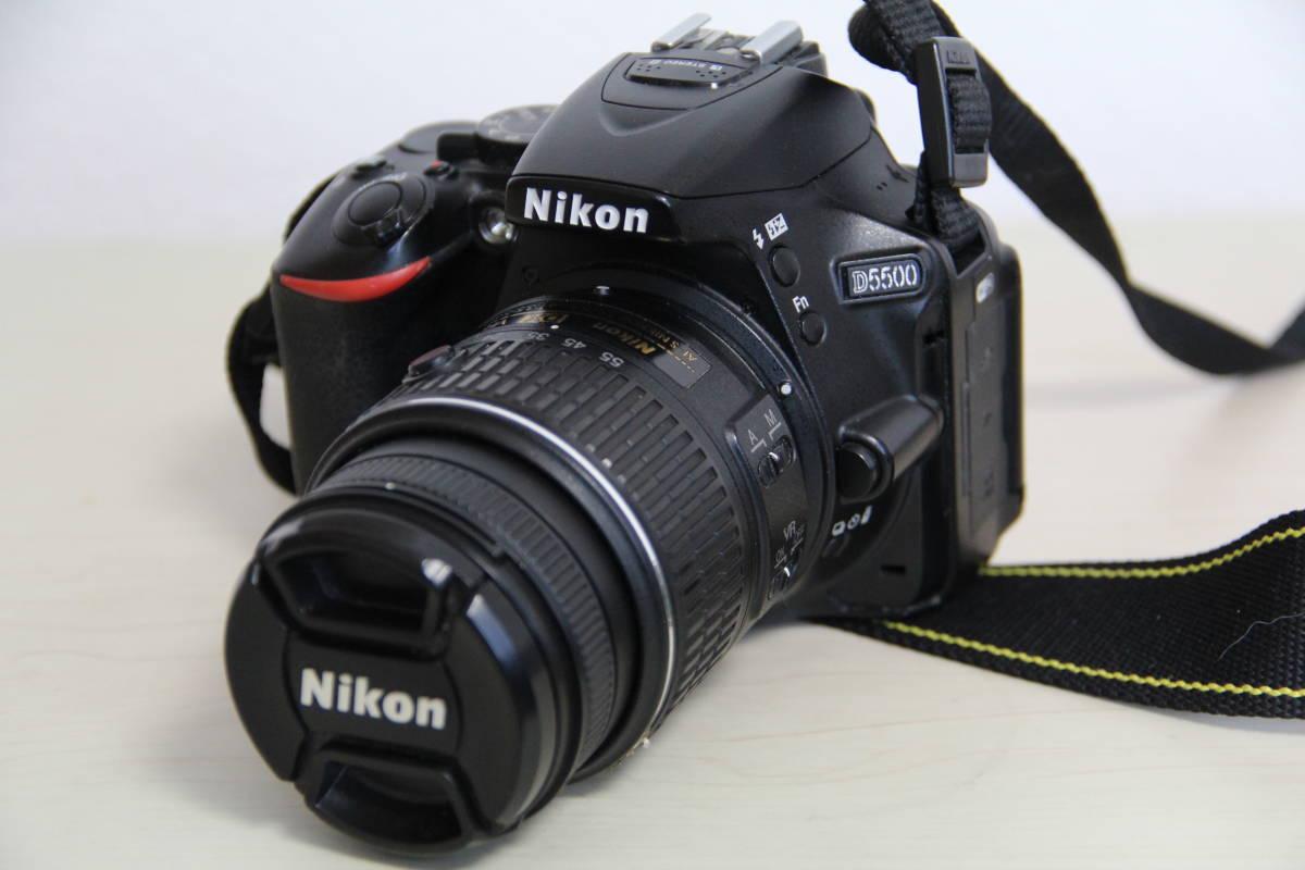 ニコン(NIKON) デジタル一眼レフカメラD5500 2416万画素,ダブル・ズームキット、ブラックボデイ、3.2型液晶タッチパネル、中古品_画像2