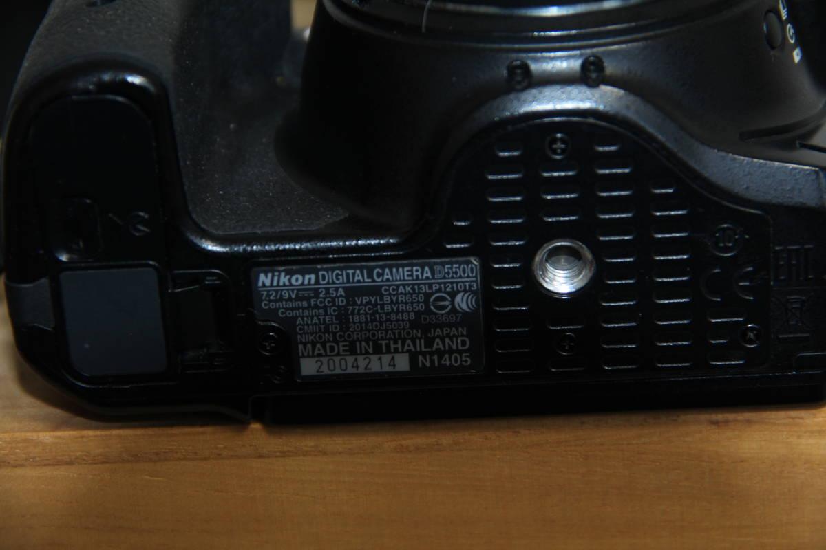 ニコン(NIKON) デジタル一眼レフカメラD5500 2416万画素,ダブル・ズームキット、ブラックボデイ、3.2型液晶タッチパネル、中古品_画像10