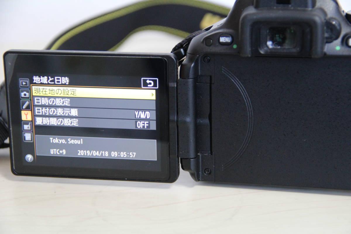 ニコン(NIKON) デジタル一眼レフカメラD5500 2416万画素,ダブル・ズームキット、ブラックボデイ、3.2型液晶タッチパネル、中古品_画像6
