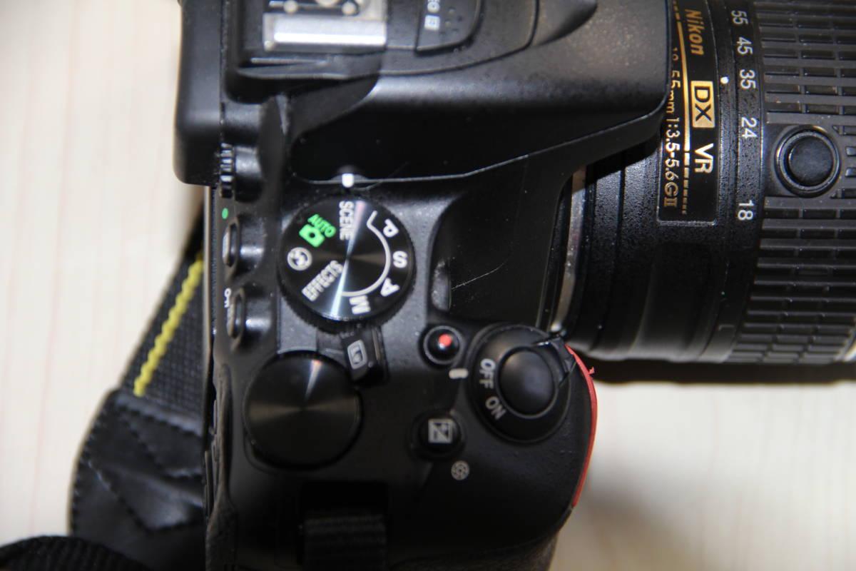 ニコン(NIKON) デジタル一眼レフカメラD5500 2416万画素,ダブル・ズームキット、ブラックボデイ、3.2型液晶タッチパネル、中古品_画像9