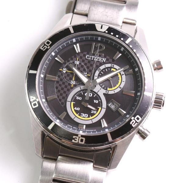 1円~ CITIZEN シチズン クロノグラフ H500-S061091 ソーラー メンズ 腕時計 中古