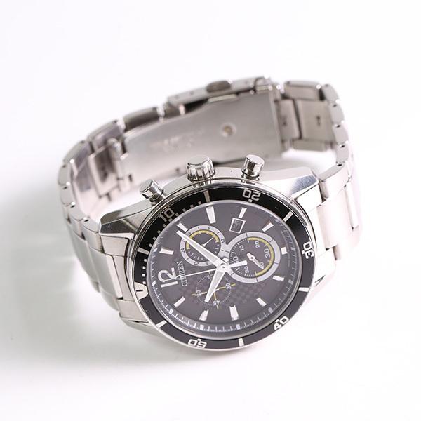 1円~ CITIZEN シチズン クロノグラフ H500-S061091 ソーラー メンズ 腕時計 中古_画像2