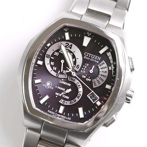 CITIZEN シチズン アテッサ E600-T006361 エコドライブ メンズ 腕時計 中古