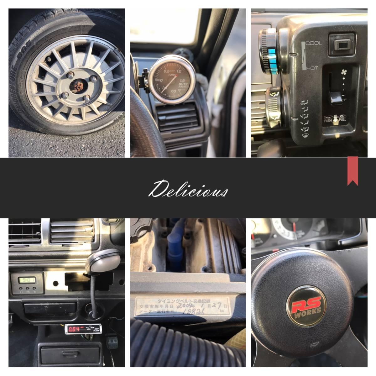 ☆旧車!62年!☆奇跡☆RS-R!DOHC-ICターボ!4WD!5速!オリジナル健在!二度と会えないシリーズ!CC72V!_画像8