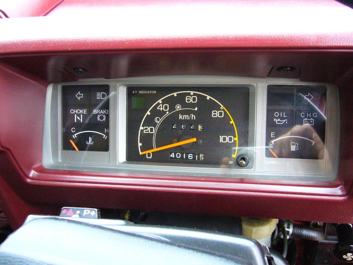 旧車 ホンダ TNアクティ ストリートL ハイルーフ バン AT 昭和58 ワンオーナー 走行少 約40000キロ 歴代記録簿あり レトロ ホンダマチック_実走行