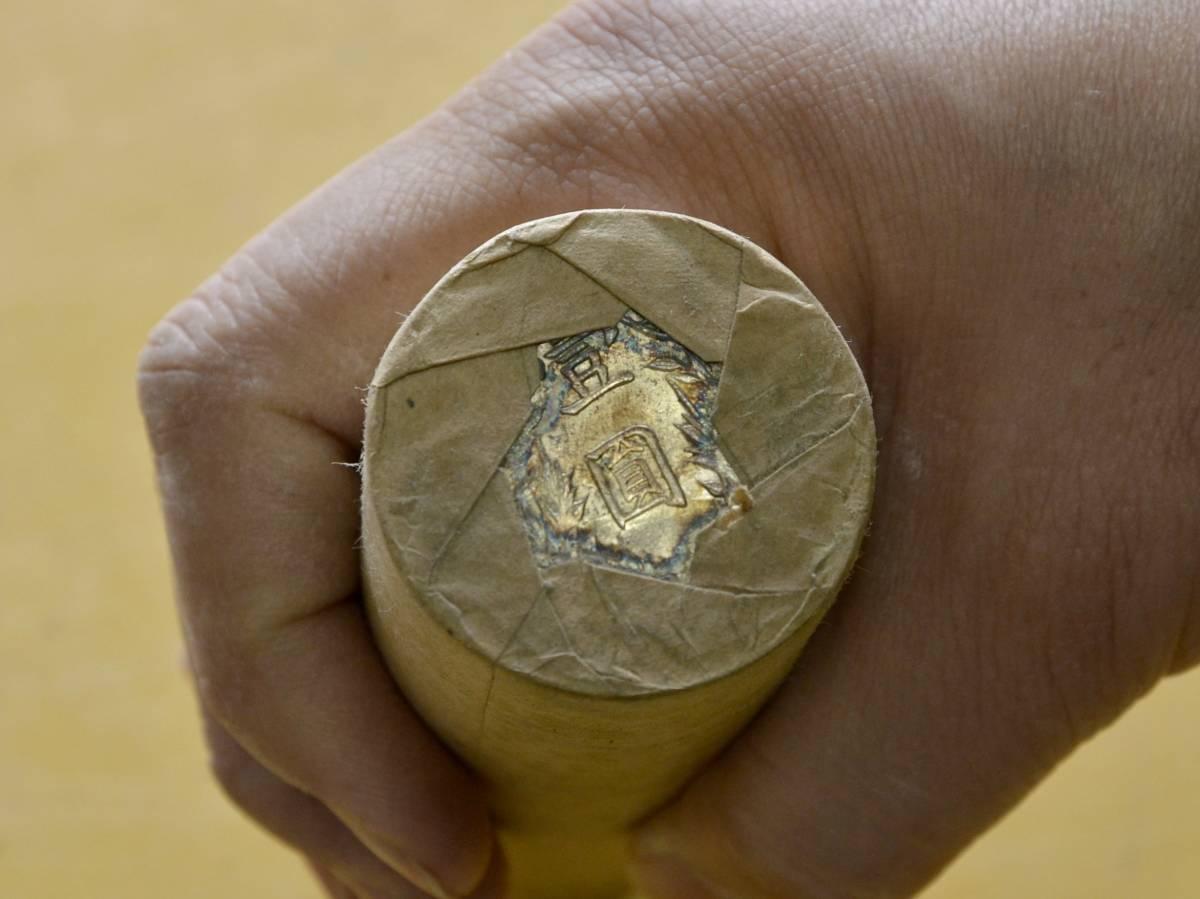 ●A7 中国壱圓銀貨 約100枚(ロール2本)。ジャンク船、袁世凱、中国貨幣,支那_画像5