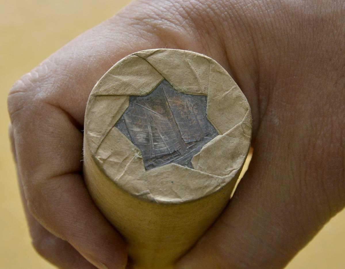 ●A7 中国壱圓銀貨 約100枚(ロール2本)。ジャンク船、袁世凱、中国貨幣,支那_画像7