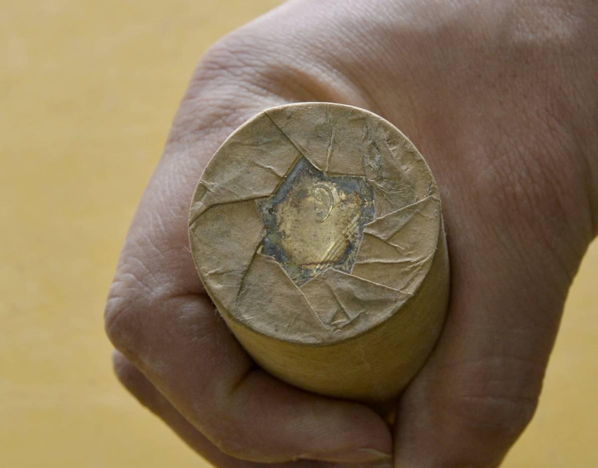 ●A7 中国壱圓銀貨 約100枚(ロール2本)。ジャンク船、袁世凱、中国貨幣,支那_画像4