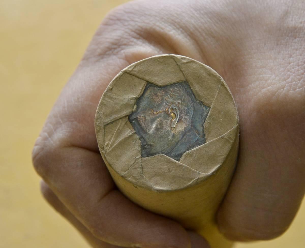 ●A7 中国壱圓銀貨 約100枚(ロール2本)。ジャンク船、袁世凱、中国貨幣,支那_画像6