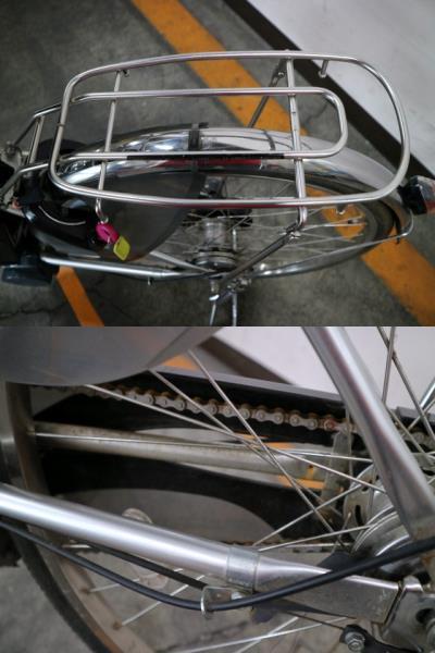 ★7002 PANASONIC 電動アシスト自転車 ビビ・DX 26型 内装3段変速 プラズマシルバー(BE-END636S) ★_画像10