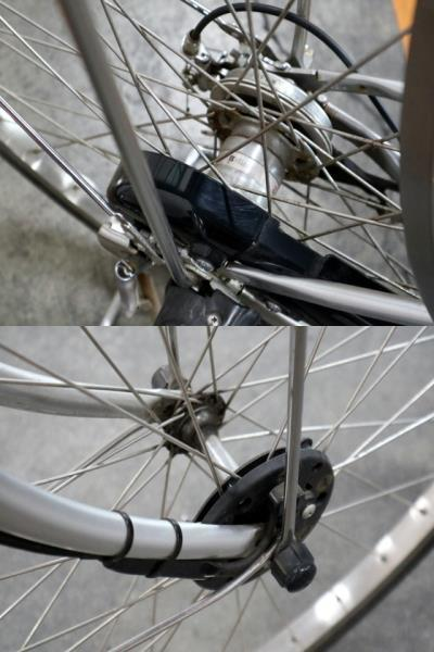 ★7002 PANASONIC 電動アシスト自転車 ビビ・DX 26型 内装3段変速 プラズマシルバー(BE-END636S) ★_画像7