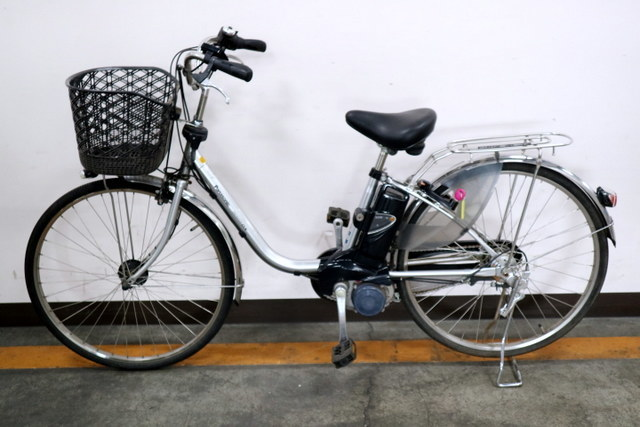 ★7002 PANASONIC 電動アシスト自転車 ビビ・DX 26型 内装3段変速 プラズマシルバー(BE-END636S) ★