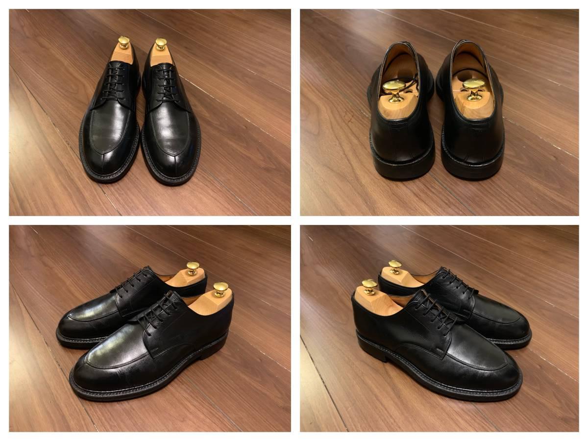 日本製高級紳士靴SCOTCH GRAINスコッチグレインVチップダービー匠グッドイヤーウェルト製法◆大人の本格ビジネスシューズ_画像2