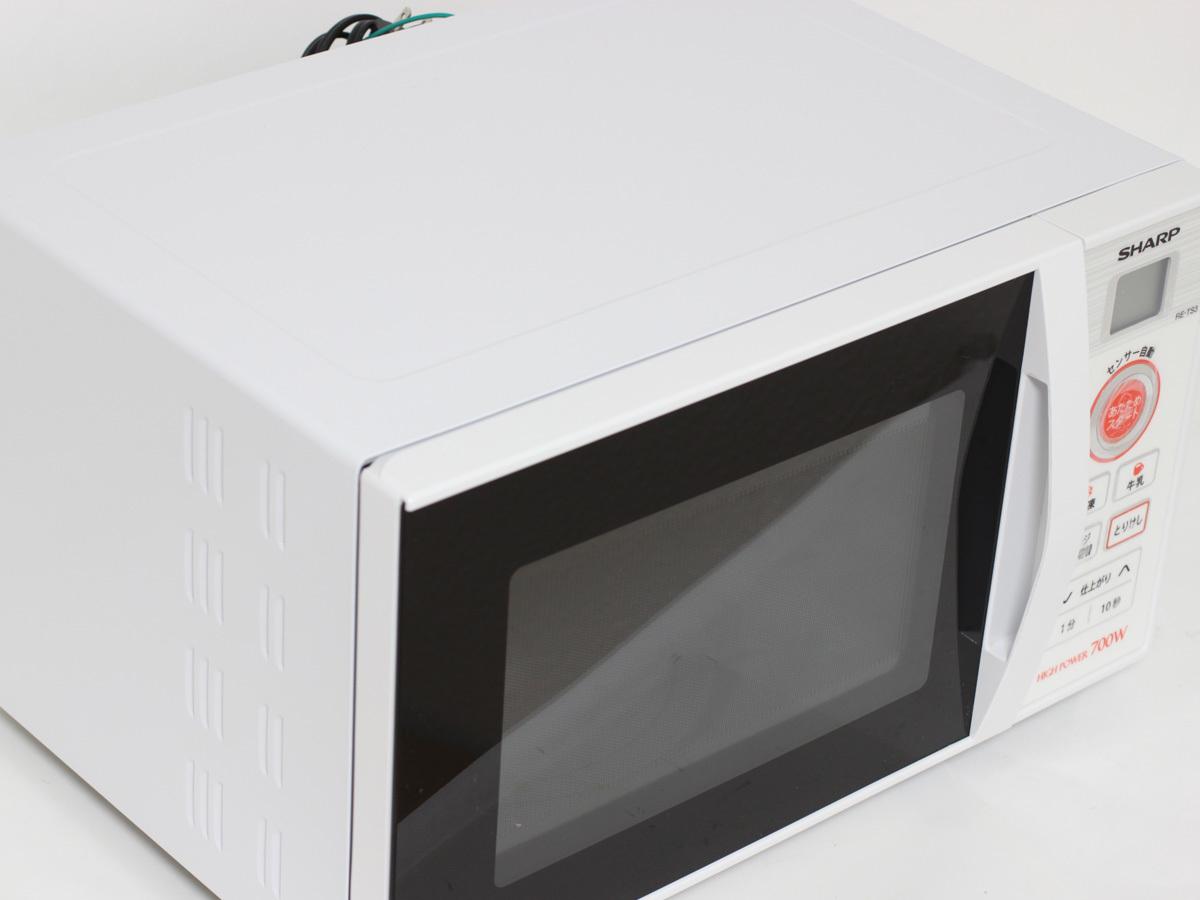 【1円出品】美品 SHARP シャープ 17年製 電子レンジ RE-TS3-W5 東日本専用 50Hz ホワイト 中古※動作確認済み 直接引き渡しOK_画像4