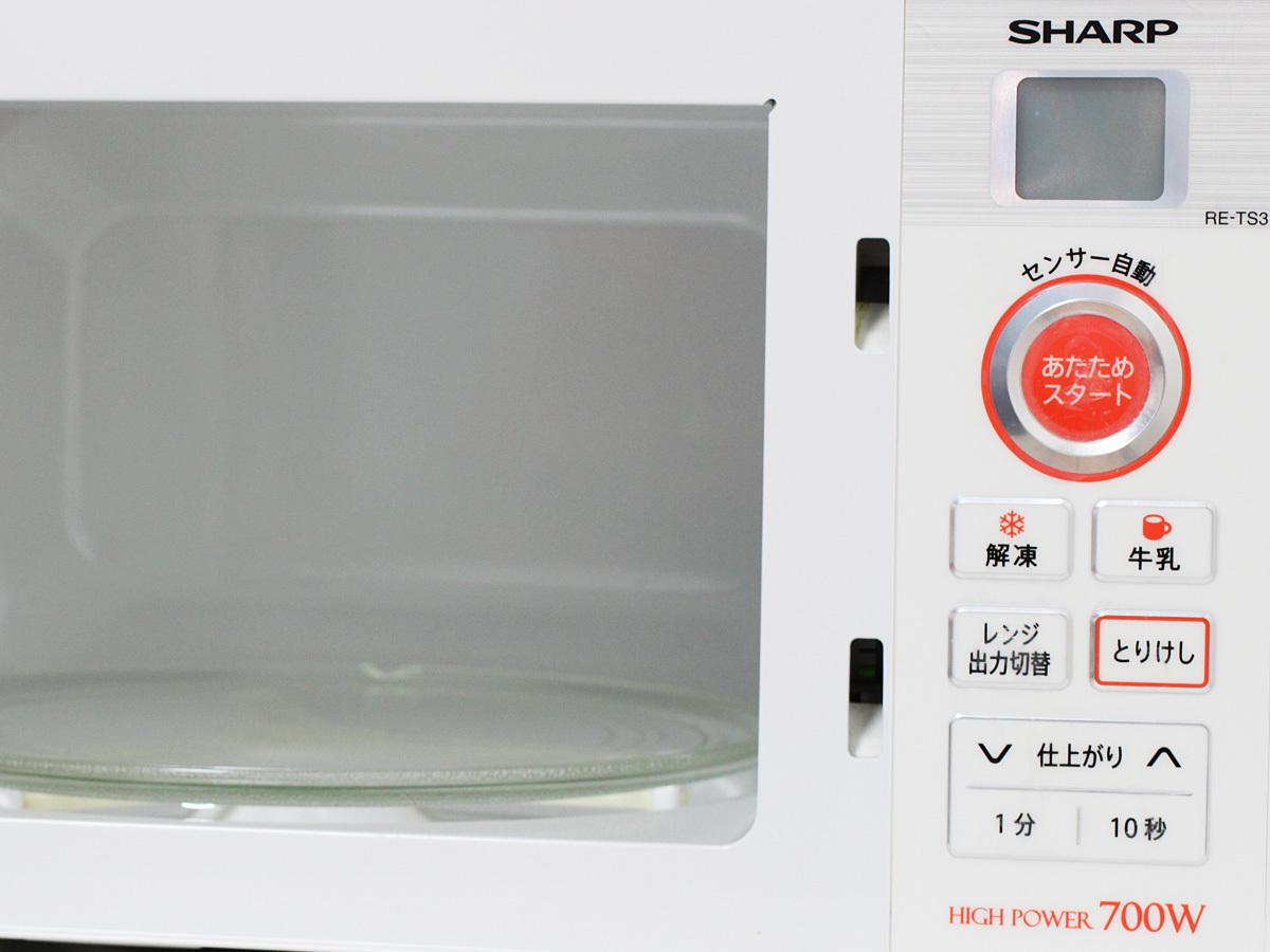 【1円出品】美品 SHARP シャープ 17年製 電子レンジ RE-TS3-W5 東日本専用 50Hz ホワイト 中古※動作確認済み 直接引き渡しOK_画像7