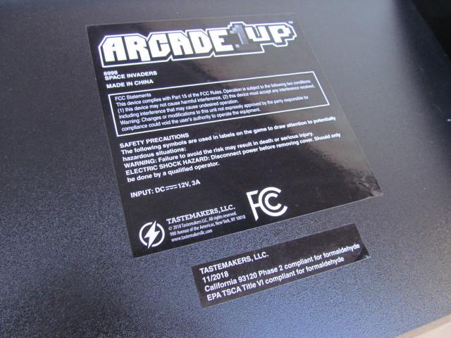 ■スペースインベーダー/ゲーム機/タイトー/Arcade1Up/SPACE INVADERS/日本仕様電源版/中古品■  _画像7