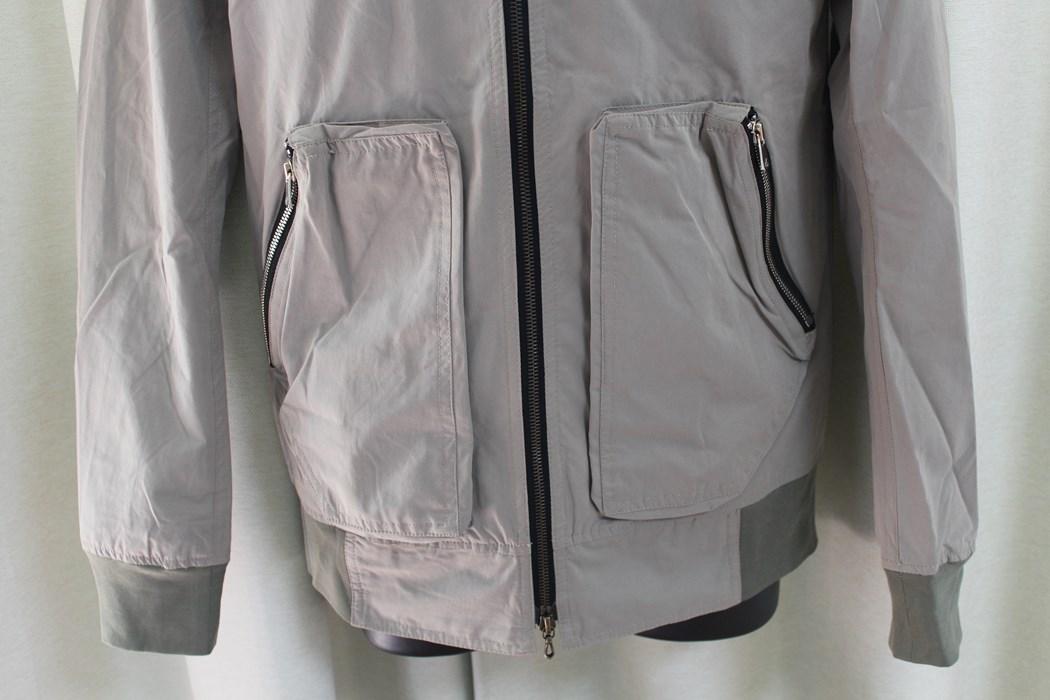 エイチワイエム hym メンズ ジップアップ ブルゾン サイズ46 日本製 新品 ジャケット ベージュ_画像4