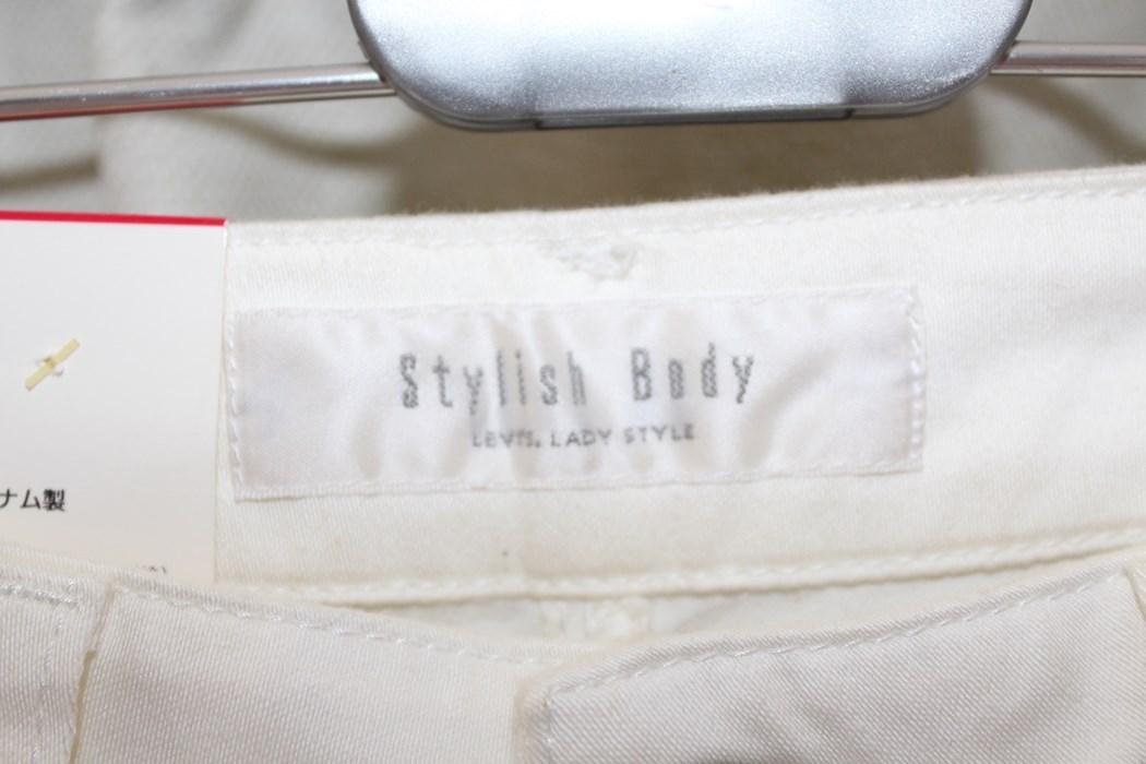 リーバイス Levi's レディースデニムパンツ ジーンズ Stylish Body ホワイト 29インチ F5553 アウトレット_画像3