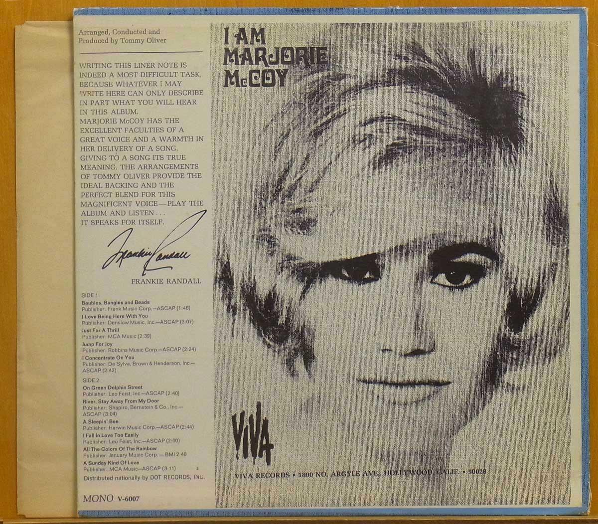 ◎レア!MONO!表綺麗!ほぼ美盤!★Marjorie McCoy「I Am Marjorie McCoy」USオリジLP #55978_画像2