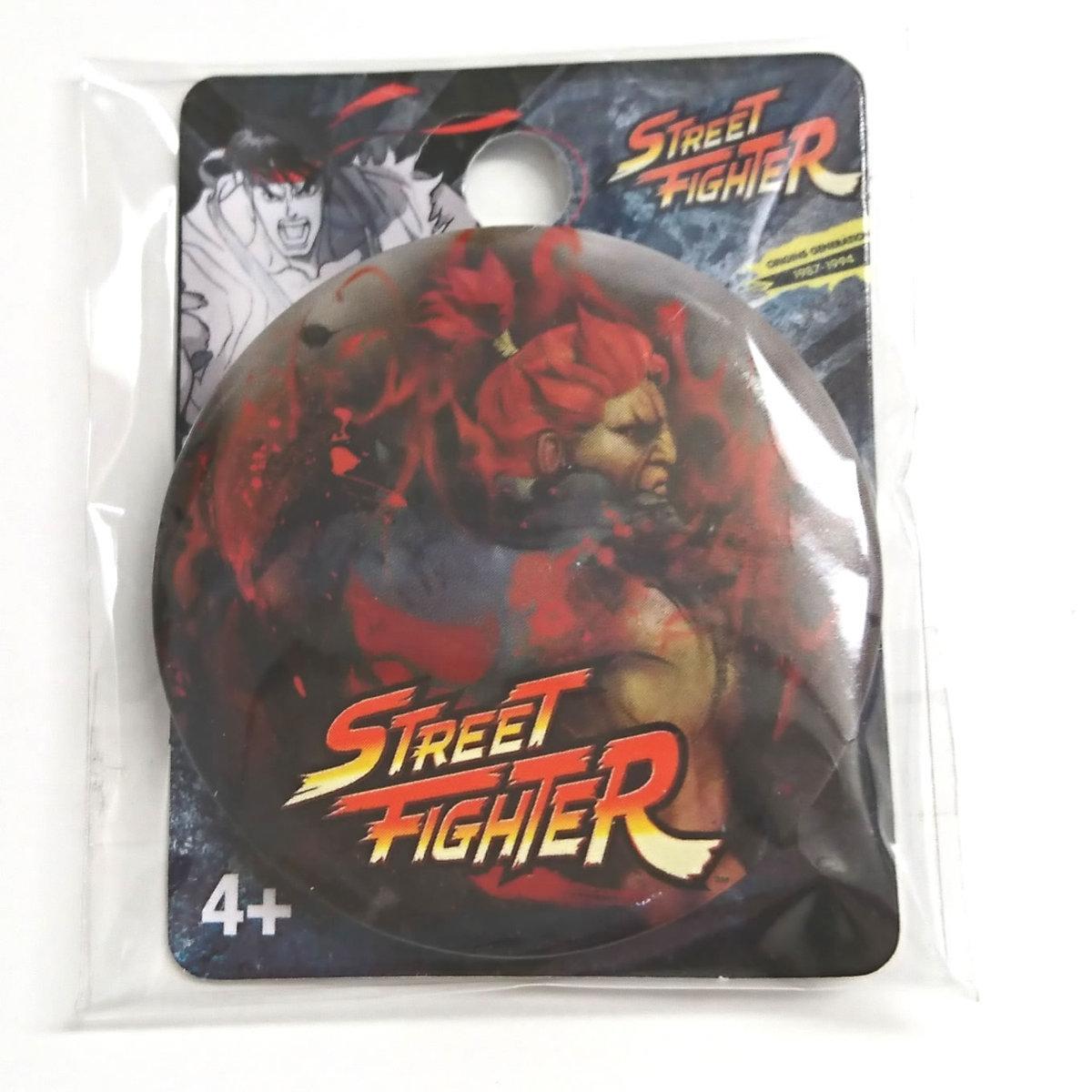 Street Fighter (ストリートファイター) Akuma (アクマ) Single Button Pin 缶バッジ _画像1