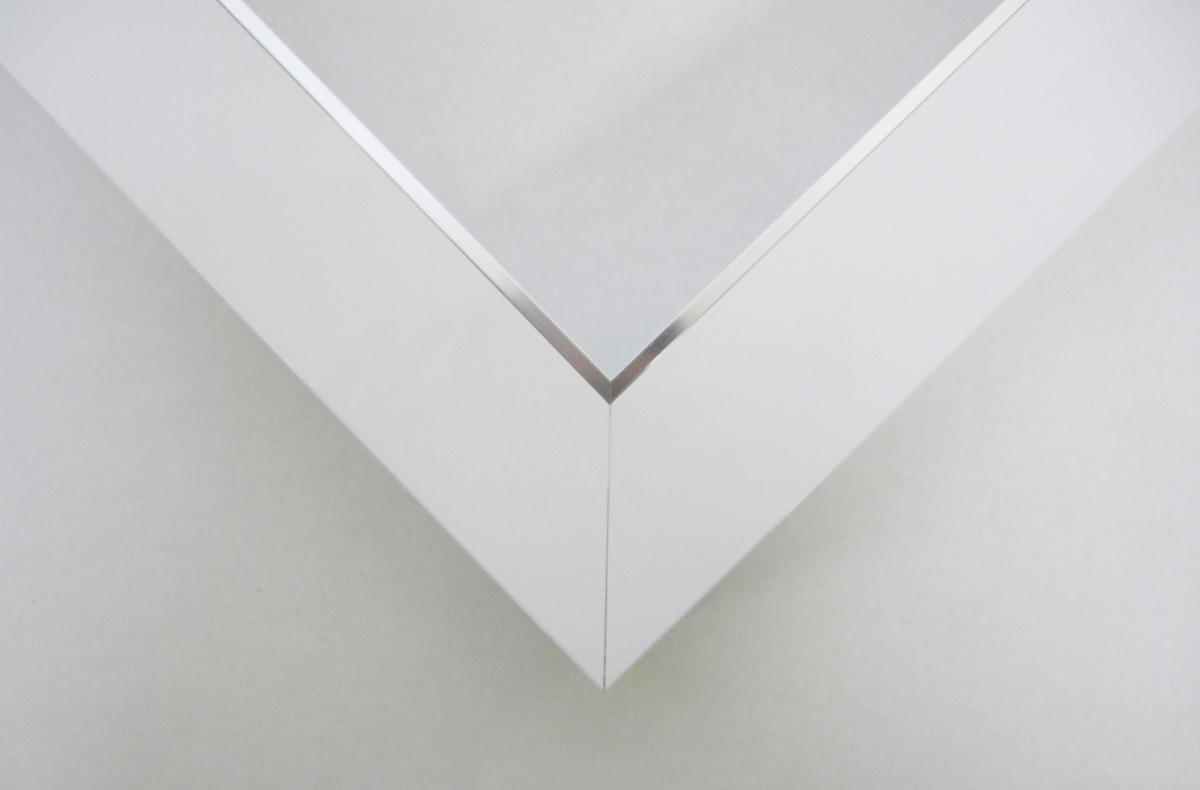額縁 仮額縁 油絵額縁 油彩額縁 仮縁 アルミフレーム F15 「フラット45」 ホワイト_画像3