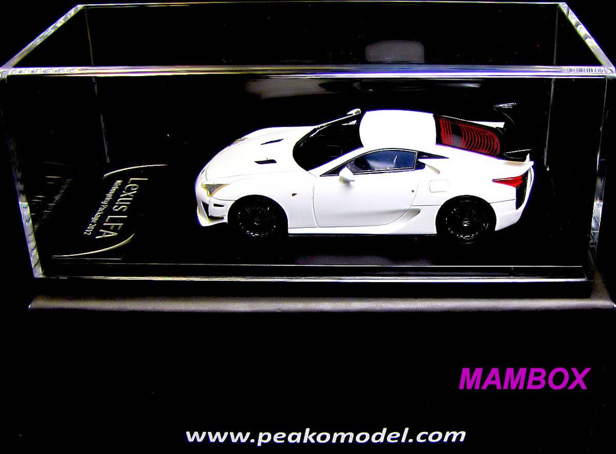 【フリマ】PEAKO☆1/43 PE4306WHレクサスLFAニュルブルクリンクパッケージ(ホワイト)_画像3