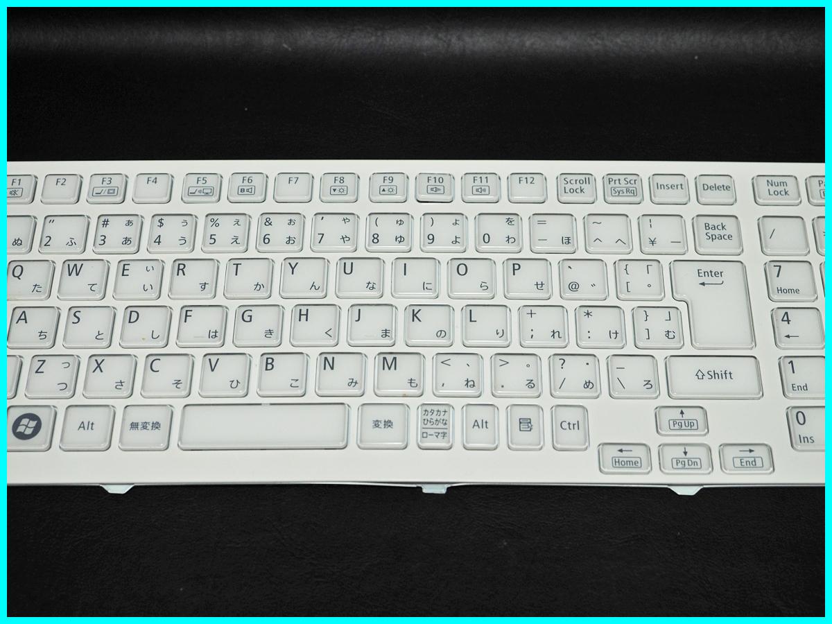 NEC LaVie L LL750/ES6W PC-LL750ES6W キーボード V119802IJ1 JA PK130J61A00 Rev:0A 動作未確認 ジャンク_画像3