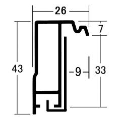 額縁 油絵額縁 油彩額縁 アルミフレーム F80 B0 「プット26角」 マットシルバー_画像4