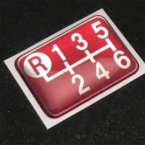 Tuningfan シフトパターン エンブレム レッド 左上R 6速MT車用 赤 SPE-R601 プレート 日本製 ZN6 ZZW30 DJLFS NDERC AE111 GTi R53 R56 JCW_画像1