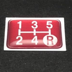 Tuningfan シフトパターン エンブレム レッド 5速MT車用 赤 SPE-R501 プレート 日本製 JZX100 CT9A L880K ZC31S JB23W BCNR33 NA2 PP1 S14_画像6