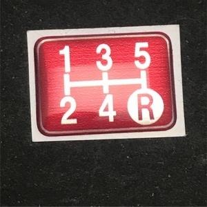 Tuningfan シフトパターン エンブレム レッド 5速MT車用 赤 SPE-R501 プレート 日本製 JZX100 CT9A L880K ZC31S JB23W BCNR33 NA2 PP1 S14_画像8