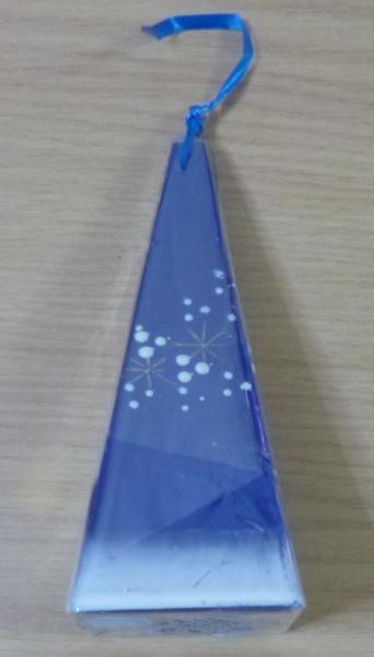 3733 HANDMADE CANDLE Pyramid 15cm Made in EU ROVANIEMI FINLAND ハンドメイドキャンドル_画像2