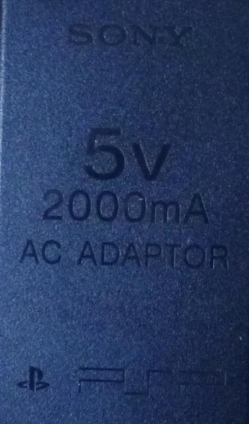 4139 SONY PSP用ACアダプタ 5V 2000mA PSP-100_画像3