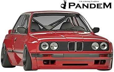 【M's】BMW E30 3シリーズ (2Dクーペ) PANDEM ワイドボディキット 5点 (FL+FF+RF+S+W)//FRP製 TRA京都 パンデム エアロ ワイドフェンダー_画像3