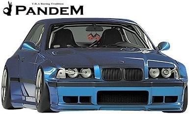 【M's】パンデム BMW E36 3シリーズ クーペ (1990y-2000y) PANDEM ワイドボディキット 3点 (FF+RF+S)//FRP製 TRA京都 エアロ_画像2