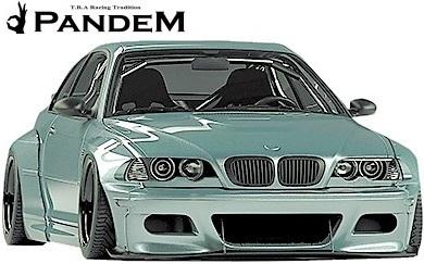 【M's】E46 BMW M3 クーペ (2000y-2006y) PANDEM フロントリップスポイラー+ステー 2点セット//3シリーズ FRP TRA京都 パンデム エアロ_画像1