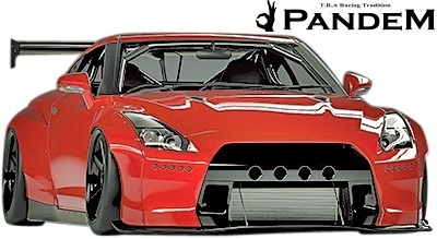【M's】ニッサン R35 GT-R PANDEM ワイドボディKIT 9P (GTウイング仕様)//FRP製 TRA京都 パンデム エアロセット GTR ワイドフェンダー_画像2