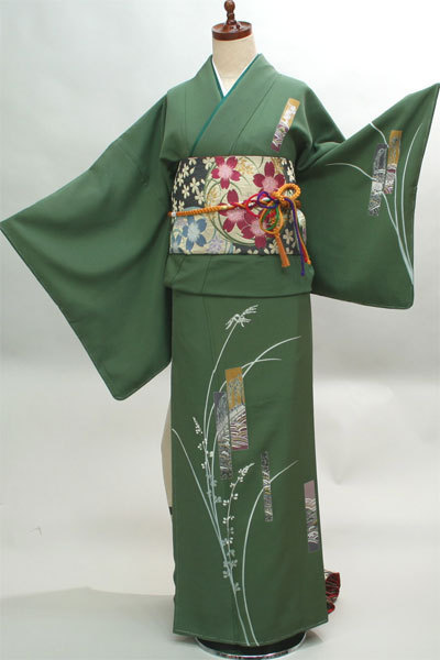 訪問着 仕立て上がり 正絹 草木 着物単品 新品(株)安田屋_画像1