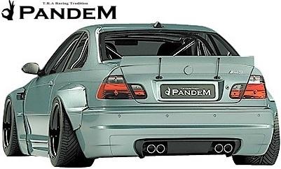 【M's】E46 BMW M3 クーペ (2000y-2006y) PANDEM ワイドボディキット 4点 (FL+LS+FF+RF)//3シリーズ FRP製 TRA京都 パンデム エアロ_画像3